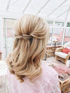 Half up wedding hairstyle
