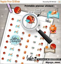 60%OFF - Basketball Stickers, Printable Planner Stickers, Basketball Game, Erin Condren, Kawaii Stickers, Printable Stickers, Planner Access
