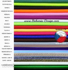 Textilní opředené kabely výrobce Bohemia design