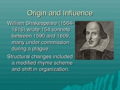 This PowerPoint presentation provides an overview of the definition of a sonnet and its history, then allows the teacher to interactively guide his...