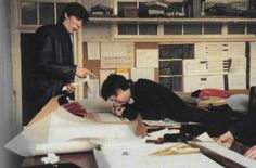 Roger Waters and Nick Mason as architecture students at Regent Street Polytechnic, London, 1963.