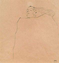 Sleeping Couple - Egon Schiele