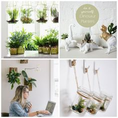 *10 DIY Planters* As we are putting our gardens to sleep for the winter it is time to start thinking about enjoying plants inside.  Here are 10 DIY Planters that I am crushing on right now.  These are sure to keep your plants healthy and your house beautiful. - A Healthy Life For Me