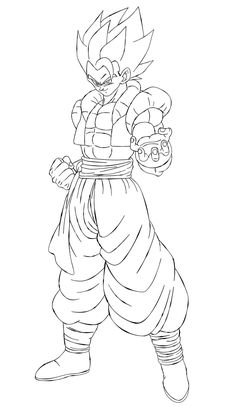 Super Saiyan Gohan (Kaioshin Outfit) [Line-Art] by AubreiPrince on DeviantArt Anime Lock Screen Wallpapers, Dbz Drawings, Naruto Sketch, Ball Drawing, Dragon Sketch, Fusion Art, Arte Horror, Dragon Ball Gt, Art Sketches