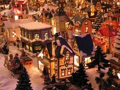 Christmas Village. I'm waiting for JoAnn Fabrics or Kohls collection to go on sale :)