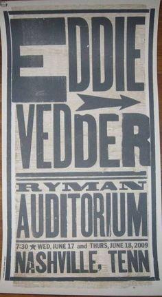 Eddie Vedder Nashville 09 Hatch - 1st
