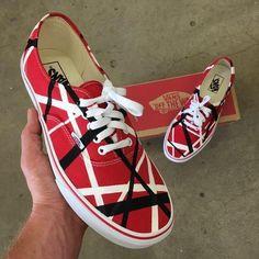 171e208a2d2373 Black   White Skull   Rose on Black Vans Authentic - Custom Hand Painted  Shoes