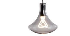 Plume Pendant Lamp and Plumen 001 Bulb, Smoke Grey