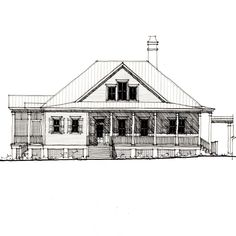 Chesapeake Bungalow House Plan (C0531) Design from Allison Ramsey Architects