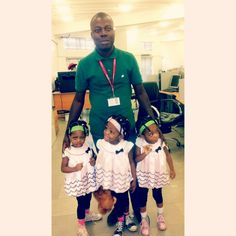 I'm with a colleague's -- Jayne -- cute triplets. I feel blessed. ☺