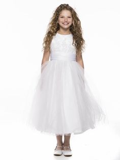 Tulle  Overlay Flower Girl Dress on sale