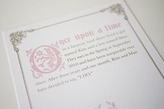 Once Upon a Time Fairy Tale Invitation