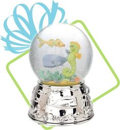 """Sea Tails Muscial Snow Globe - Plays """"By the Sea, By the Sea, By the Beautiful Sea"""""""
