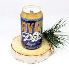 Deep Ellum Rye Pils Beer Can Candle is handcrafted locally in Dallas, TX by our M.A.Designs Team and created from up-cycling recycled beer cans into re-purposed soy blend candles. We use a very high quality of Soy Blended Wax to ensure you receive a clean long burn time of 40+ hours on average plus the best possible scent throw. Plus, you are going to love our innovative custom cherry wood wicks that give you a crackling sound ambiance that will make you feel like you are sitting by a fire.