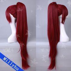 Puella Magi Madoka Magica Kyoko Sakura Cosplay Wig 0762 Long Ponytail + Hair Cap on eBay!