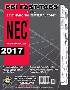 2017 National Electrical Code (NEC) Loose-leaf BBI Fast-Tabs Pamphlet