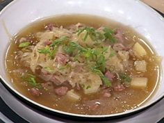 Cooking Channel serves up this Sauerkraut Soup with Sausage recipe from Emeril Lagasse plus many other recipes at CookingChannelTV.com