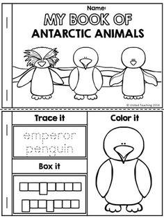 My Book of Antarctic Animals >> Part of the Polar Animals No Prep Activities Packet