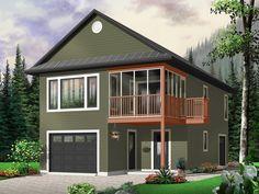 RV Garage Apartment Plan, 072G-0035 … | Pinteres…