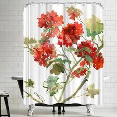 2 x 3 Floor Mat Kess InHouse Carol Schiff Cheerful Geranium Red Painting Decorative Door