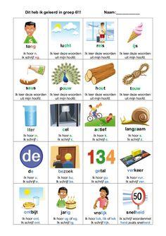 Dit heb ik geleerd in groep 6!!! Naam:___________tong lucht reis ijsik hoor n.ik schrijf ng.Ik leer deze woordenuit mijn h... Dutch Phrases, Curriculum, Homeschool, Learn Dutch, Dutch Language, Primary School, Phonics, Kids Learning, Teacher