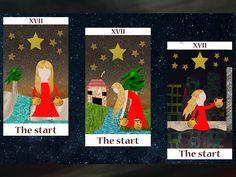 Nombre del proyecto: Hoy, mañana y siempre (carta de tarot) / Nombre: La estrella (tarot) / Tecnica: Programa PS(Photoshop) / Materia: Introducciòn a la computacion / Ejercicio: Composiciòn y representaciòn. / Año: 2014
