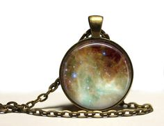 Nebula jewelry Space fog pendant Astronomy by SleepyCatPendants