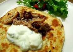 Slow roasted pork neck in thyme, rosemary & bay with mint flatbreads Jan6 by
