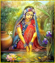 'for wherever she looked she would see him, and whatever she touched she would touch him...'  RADHA KRISHNA