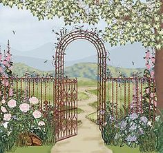 secret garden wall mural - Google Search
