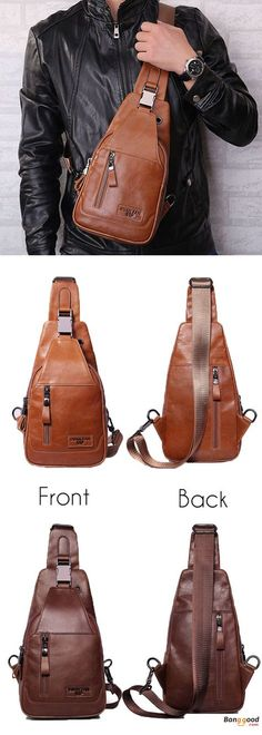 US$39.99 + Free shipping. Men Chest Bag, Genuine Leather Bag, Shoulder Bag, Crossbody Bag, Men's Bags. Colors: Khaki,Coffee. >>> To View Further, Visit Now.