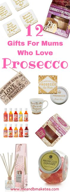 12 prosecco gifts for mums this christmas! Today on the blog im sharing 12 unique gift ideas for anyone who loves prosecco, wine and champagne. there are so many fun things to find these days!