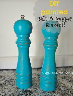 DIY- Painted Salt & Pepper Shakers #DIY #Paint #Craft
