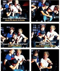 One Direction - Niall distracting Liam during his solo in Last First Kiss. July 5, 2013 at Hersheypark Stadium in Hershey, Pennsylvania USA | click pic to see the video. All the boys are sitting together and Niall and Louis are messing around throughout the whole song #concerts #concertvideos #Concert