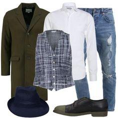 baa7b76052 Gilet graffiante: outfit uomo Trendy per tutti i giorni   Bantoa. Camicia  bianca classica Michael Kors ...
