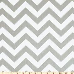 GREY Chevron Fabric by the Yard Premier Prints by FabricSecret, $9.95