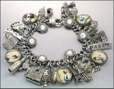 Silver Charm Bracelet Paris Jewelry Paris by BlackberryDesigns, $87.00