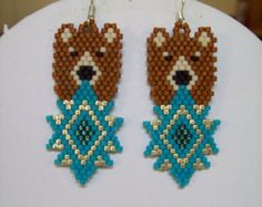 Beautiful Native American Style Beaded Gold by BeadedCreationsetc