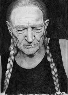 Willie Nelson by dreerose on DeviantArt Male Country Singers, Country Artists, Willie Nelson, Allison Krauss, Legend Images, Mountain Music, Music Drawings, Pencil Drawings, Angeles