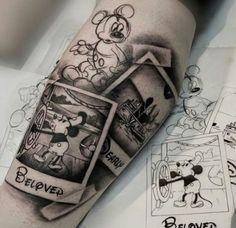 😍 - # are - Disney Tattoo Ideen - Mickey Tattoo, Mickey Mouse Tattoos, Trendy Tattoos, Mini Tattoos, Small Tattoos, Tattoos For Women, Tattoos For Guys, Family Tattoos, Temporary Tattoos