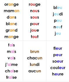 Teach Your Child to Read - learning to read sound blends grade 1 French Immersion- though it is French...this is a great layout for teaching vocabulary Give Your Child a Head Start, and...Pave the Way for a Bright, Successful Future...