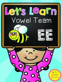 Long Vowels  Teach long vowel combination 'ee' with this easy to use fun and interactive printables collection! 18 pages of activities and printables are included that will provide a comprehensive program for teaching the  long vowel combination 'ee'.