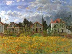 Claude Monet - Maisons d'Argenteuil (1873)