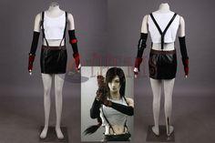 Athemis Final Fantasy VII Tifa Lockhart Cosplay Costume Custom Made Women Dress Halloween cosplay //Price: $US $79.90 & Up To 18% Cashback //     #gothicoutfit