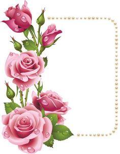 fleurs printemps-cadre roses - encadrement roses-décos