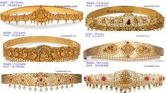 Latest Gold Vaddanam Designs With Weight and Price Light Weight Gold Jewellery, Kids Gold Jewellery, Real Gold Jewelry, Gold Jewellery Design, Gold Waist Belt, Vaddanam Designs, Waist Jewelry, Gold Bangles Design, Gold Belts