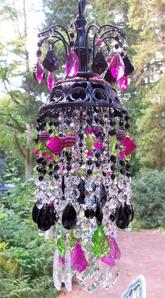 Jeweled Bohemian Princess Petite Crystal Chandelier wind chimes