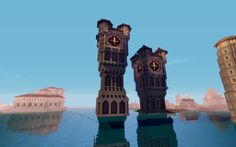 Minecraft Medieval Clock Tower Kpulyutt | toysandgamecollections.com