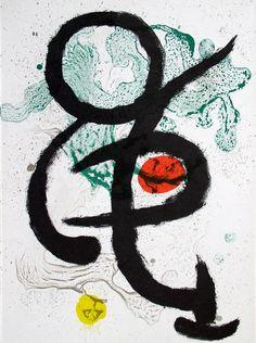 Composition 1I for Miro-Artigas (M. 345). Original color lithograph, 1963.