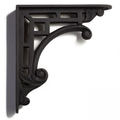 Blending a detailed scroll and leaf design with rectangular shapes, the Transitional Style Cast Iron Shelf Bracket displays classic style with a contemporary twist. Traditional Porch, Modern Traditional, Decorating Blogs, Interior Decorating, Cast Iron Shelf Brackets, Metal Furniture, Transitional Style, Home Decor Inspiration, Hardware